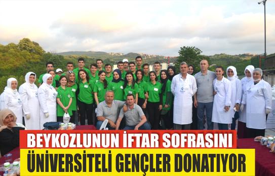 Beykozlunun İftar Sofrasını Üniversiteli Gençler Donatıyor