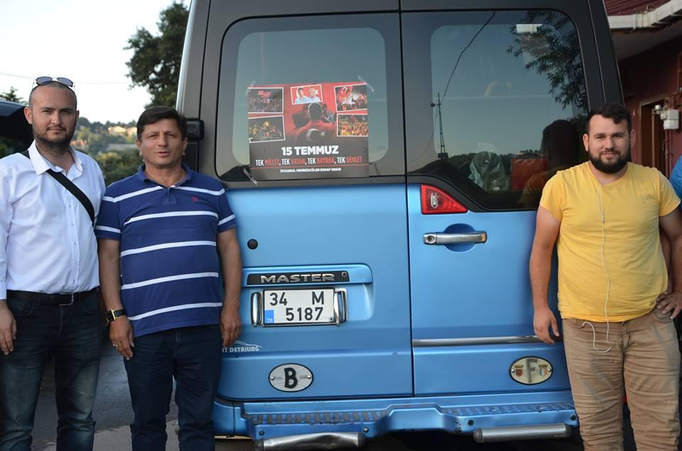 15 Temmuz'u Beykozlu Minibüsçüler de Unutmadı