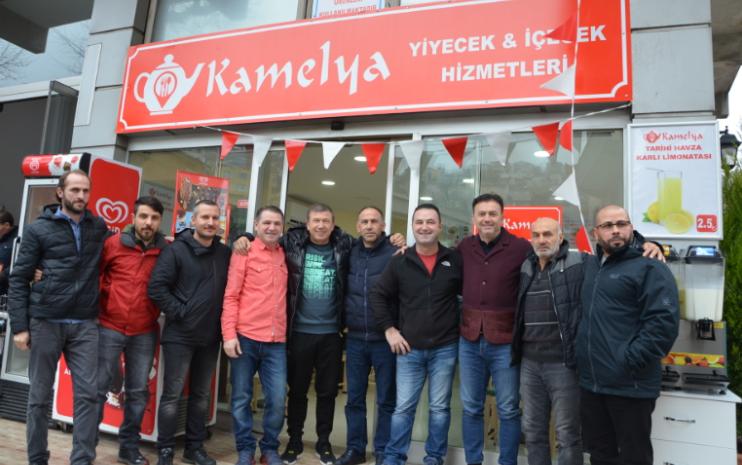 Tokatköy'de Restoran Açılışını Milli Futbolcular Yaptı