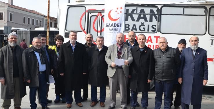 Saadet Partisi'nden Mehmetçik İçin Kan Bağışı