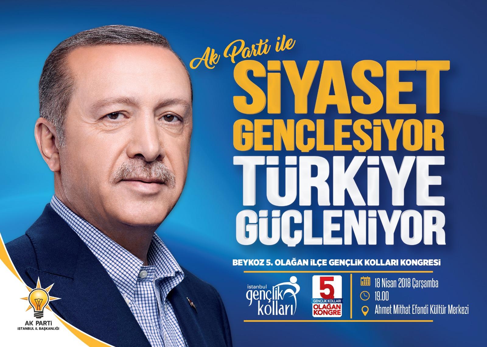 AK Parti Beykoz İlçe Gençlik Kolları Kongreye Gidiyor