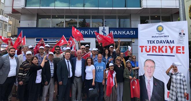 CHP Beykoz'dan Cumhurbaşkanı Adayı İnce'ye Para Desteği