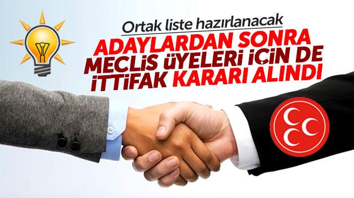 AK Parti ve MHP Ortak Meclis Listesi Yapacak