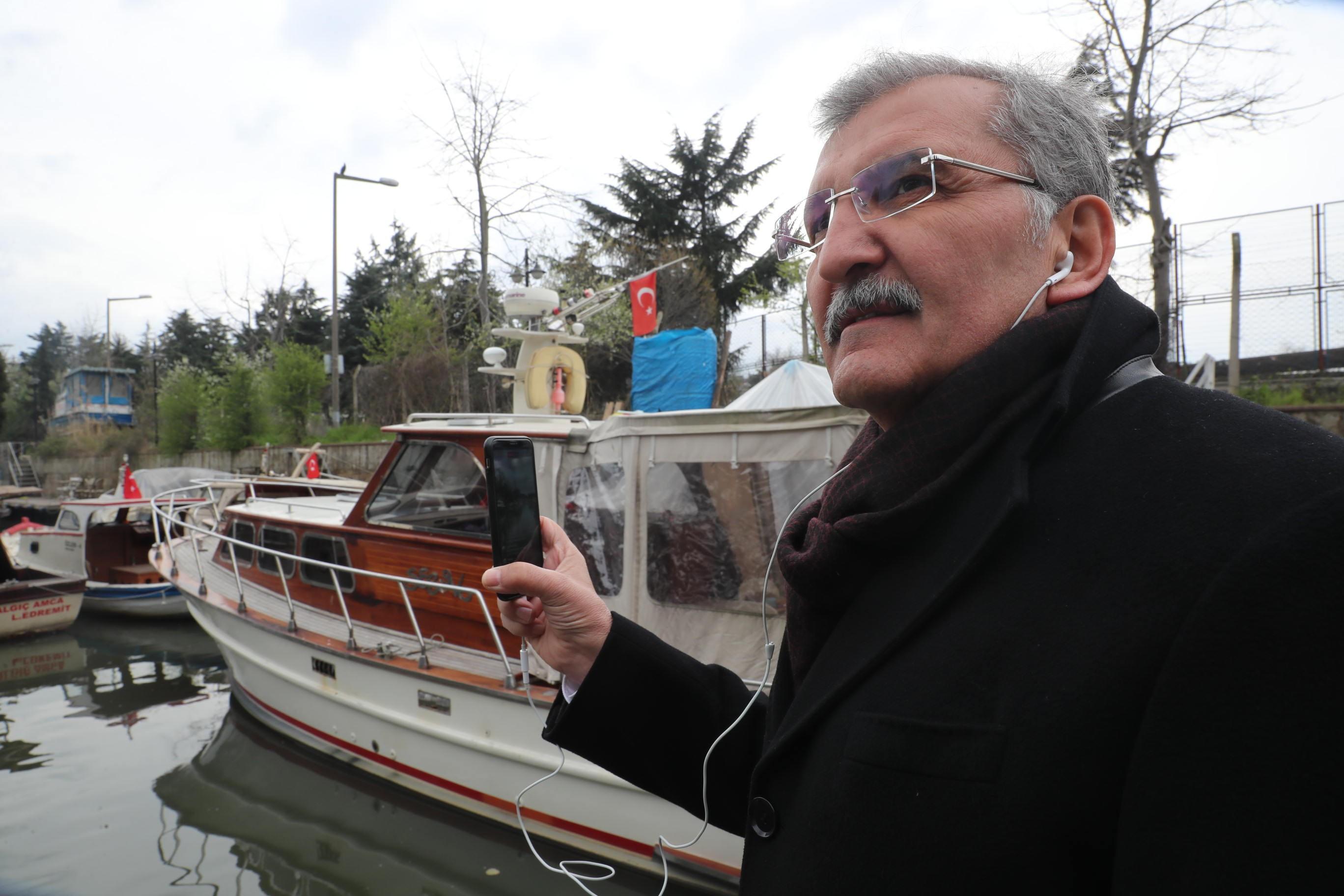 Murat Aydın, Tekneye Binip Canlı Yayın Yaptı