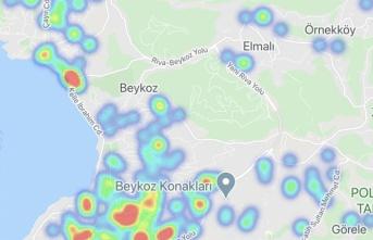 Beykoz'un koronavirüs haritasının güncel hali