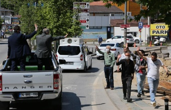 Murat Aydın Beykozluların bayram sevincini paylaştı