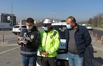 Beykoz'da drone destekli trafik denetimi