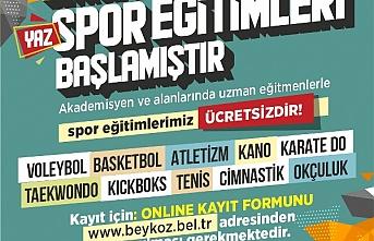 Beykoz'da yaz spor eğitimleri başlıyor