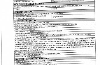 İstanbul Beykoz Belediyesi 10 İşçi Alacak