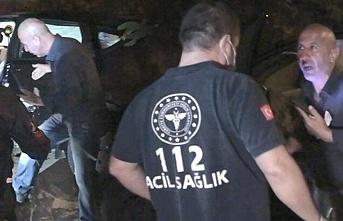 Beykoz'da yaralı doktoru kaza yerinde bırakıp kaçtı