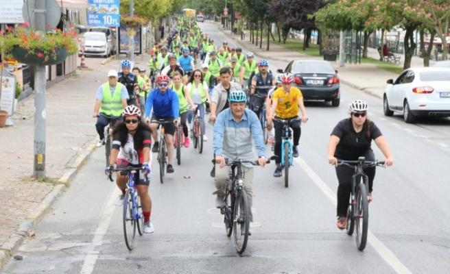Başkan Murat Aydın'ın Başlattığı Bisiklet Turuna İlgi Büyüktü