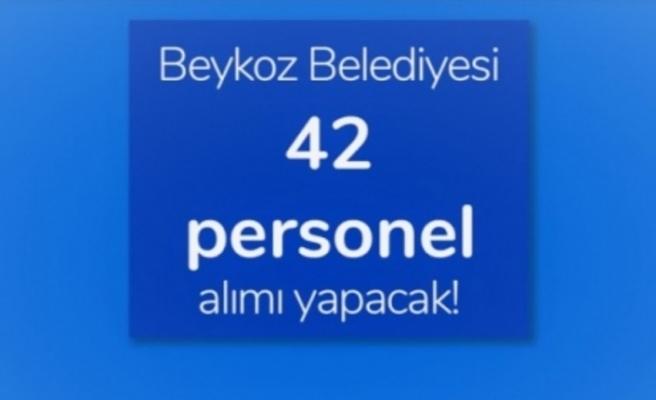 Beykoz Belediyesi 42 Personel Alımı Yapacak!