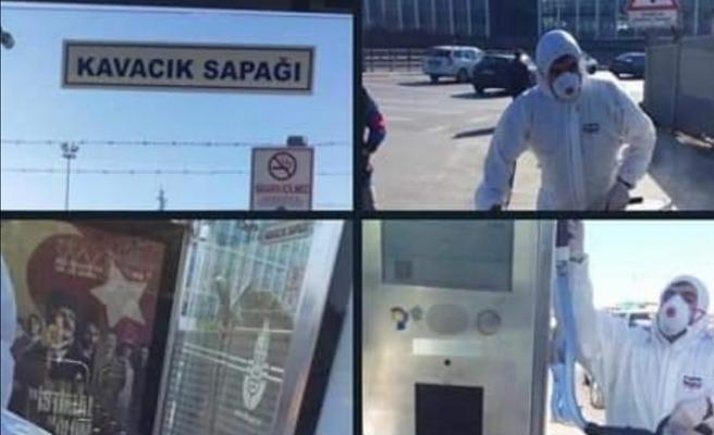 İBB Ekipleri Beykoz'da Corona Virüsü Temizliği Yaptı