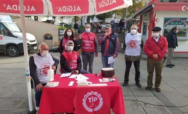TİP Beykoz Örgütü Paşabahçe'de stant açtı