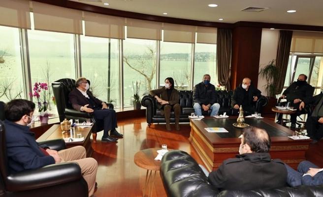 Beykozlu derneklerden Başkan Murat Aydın'a taziye ziyareti