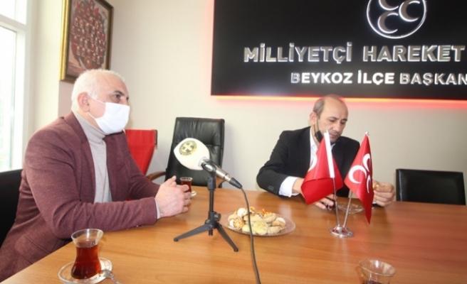 Beykoz Kulüpler Birliği'nden MHP'ye ziyaret