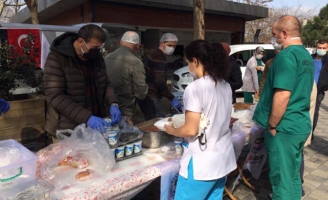 Beykoz sağlık çalışanlarına sağlıklı ikram