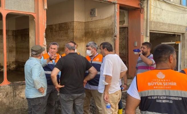 İYİ Parti Beykoz İlçe Teşkilatı afet bölgesinde