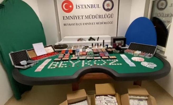 Beykoz'da lüks villaya şok baskın! 25 kişi gözaltına alındı