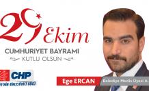 Ege Ercan'dan 29 Ekim Cumhuriyet Bayramı Mesajı