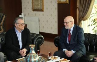 Mesut Yılmaz'dan Başkan Çelikbilek'e Nezaket Ziyareti