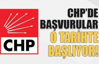 CHP'de Başvurular O Tarihte Başlıyor