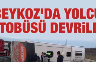 Beykoz'da Yolcu Otobüs Devrildi: 6 Yaralı
