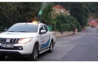 Beykoz'da Sivrisinek İlaçlama Çalışmaları...