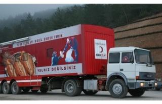 Beykoz Kızılay Şubesi, Deprem Bölgesine 3 TIR...