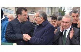 İmamoğlu ve Murat Aydın Elele