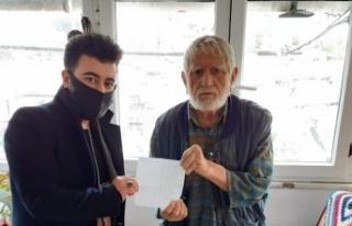 75 yaşındaki Mustafa amcadan bin liralık bağış