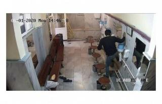 Beykoz'da caminin musluklarını çalan hırsız...
