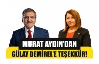 Murat Aydın'dan CHP'li Demirel'e teşekkür