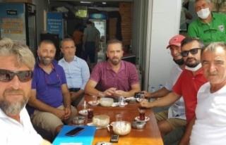 Riva'da imza topladılar, Hanefi Dilmaç'a...