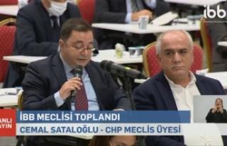 CHP'li Sataloğlu, İBB Meclisi'nde Riva Deresi'ni...