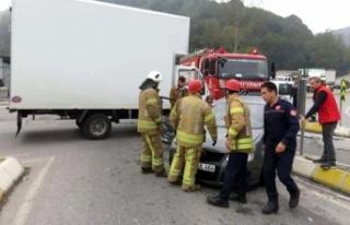 Beykoz'da trafik kazası