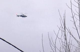 Beykoz Çavuşbaşı'nda helikopter düştü...