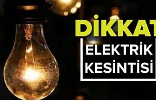 Beykoz'un bir çok mahallesinde elektrik kesintileri...