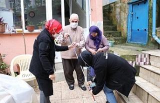 Beykoz'daki görme engellilere beyaz baston sevinci