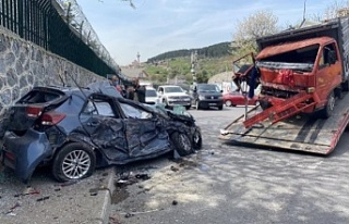 Beykoz'da feci kaza !