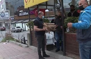 Beykoz'da taksici esnafı iftarda yalnız kalmadı,...