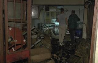 Beykoz'da ıslak mendil imalathanesinde korkutan...