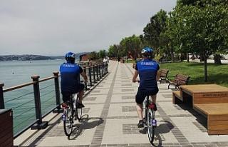 Beykoz'un bisikletli zabıtaları devriyeye başladı