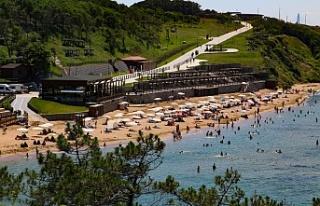 Riva Elmasburnu Plajı Sezonu Açtı