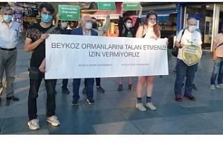 Beykoz çevre gönüllülerinden basın açıklaması