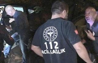 Beykoz'da yaralı doktoru kaza yerinde bırakıp...
