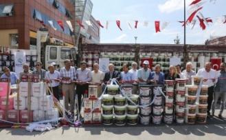 Beykoz Belediyesi'nden 80 Okula Boya ve Temizlik Malzemesi Desteği