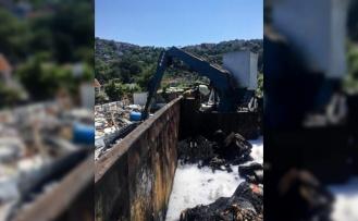 Beykoz'da hurdalık yangını