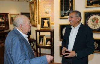 Murat Aydın, Türk Sinemasının Hafızası Türker İnanoğlu'nu Ziyaret Etti