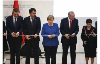 Erdoğan ve Merkel Türk-Alman Üniversitesi Açılışında Buluştu